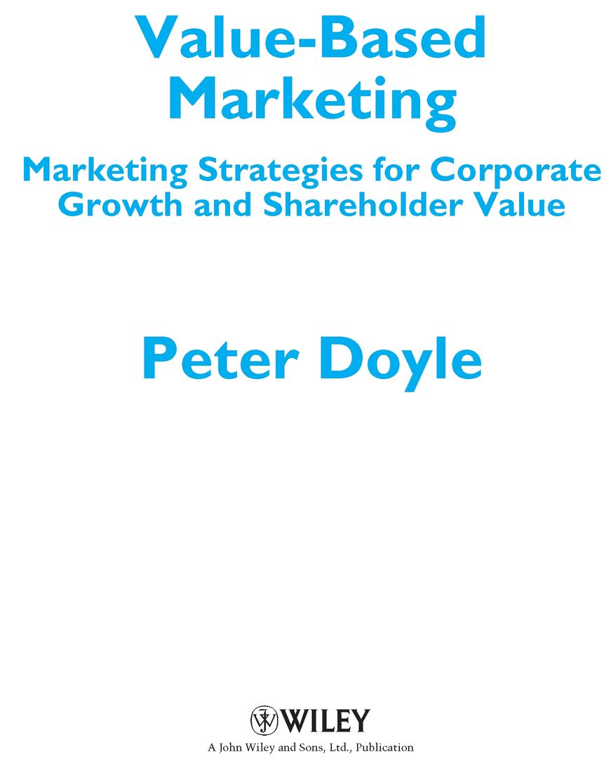 Value based marketing prep