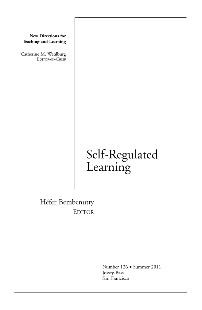 Life: High School and Self-regulated Learning Strategies