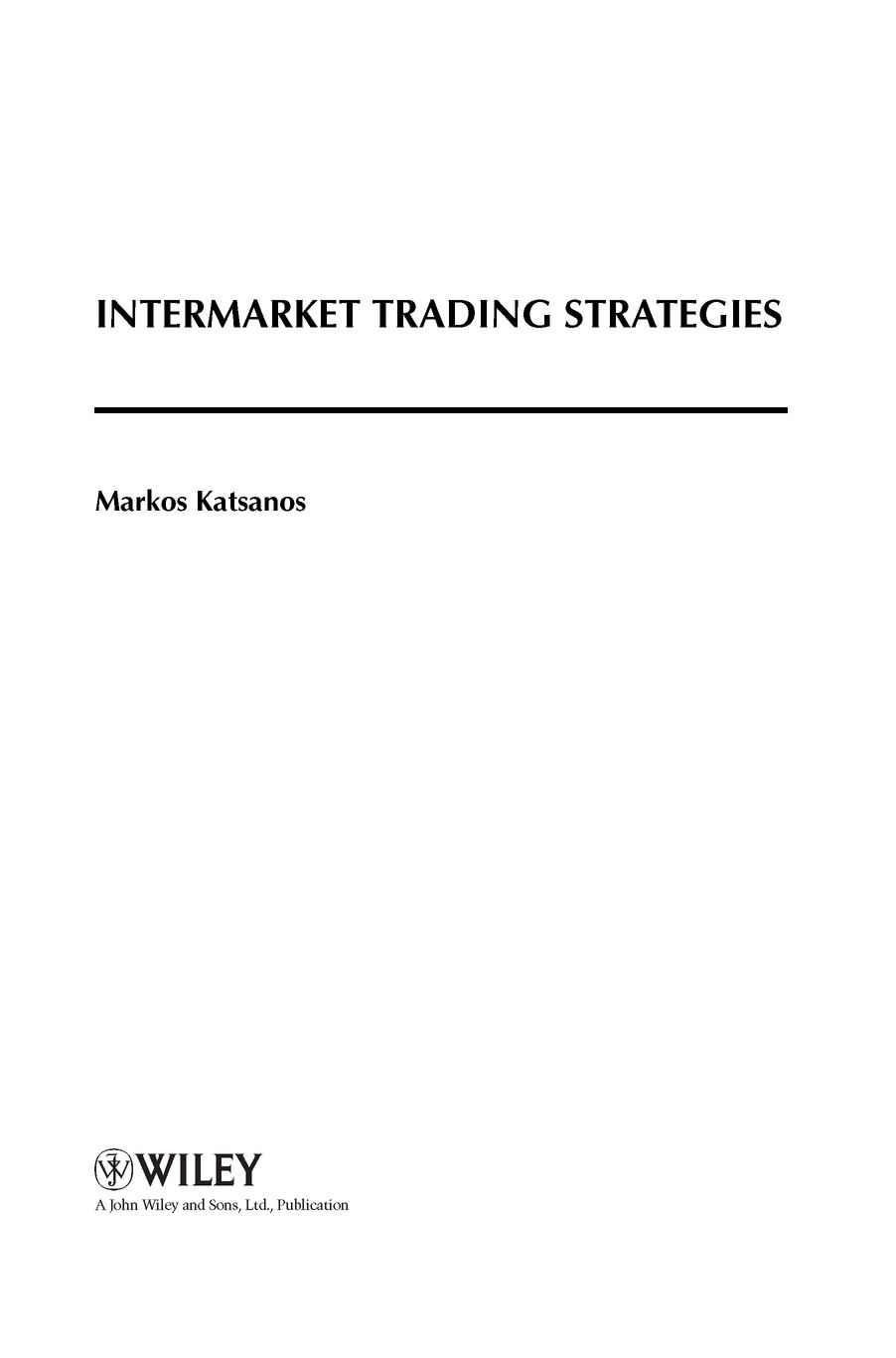 Intermarket trading strategies by katsanos