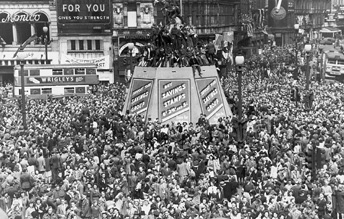 In command of history little of this was apparent to jubilant britons in piccadilly circus on 8 may after churchills victory broadcast two weeks later in the utmost secrecy fandeluxe Gallery