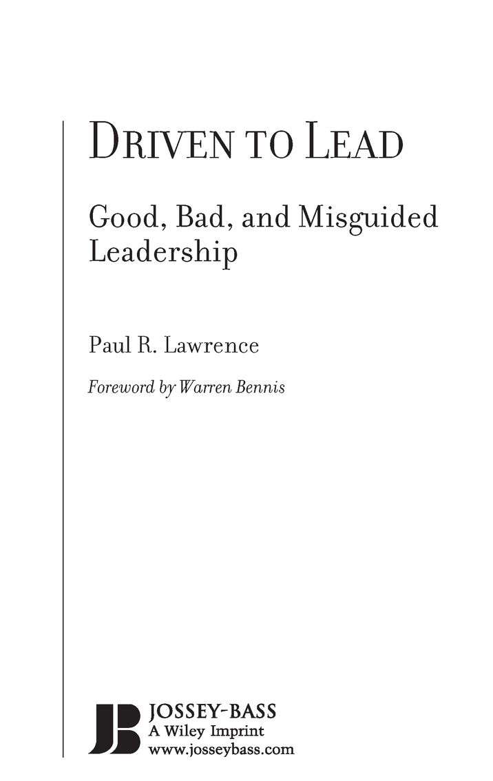 driven to lead lawrence paul r