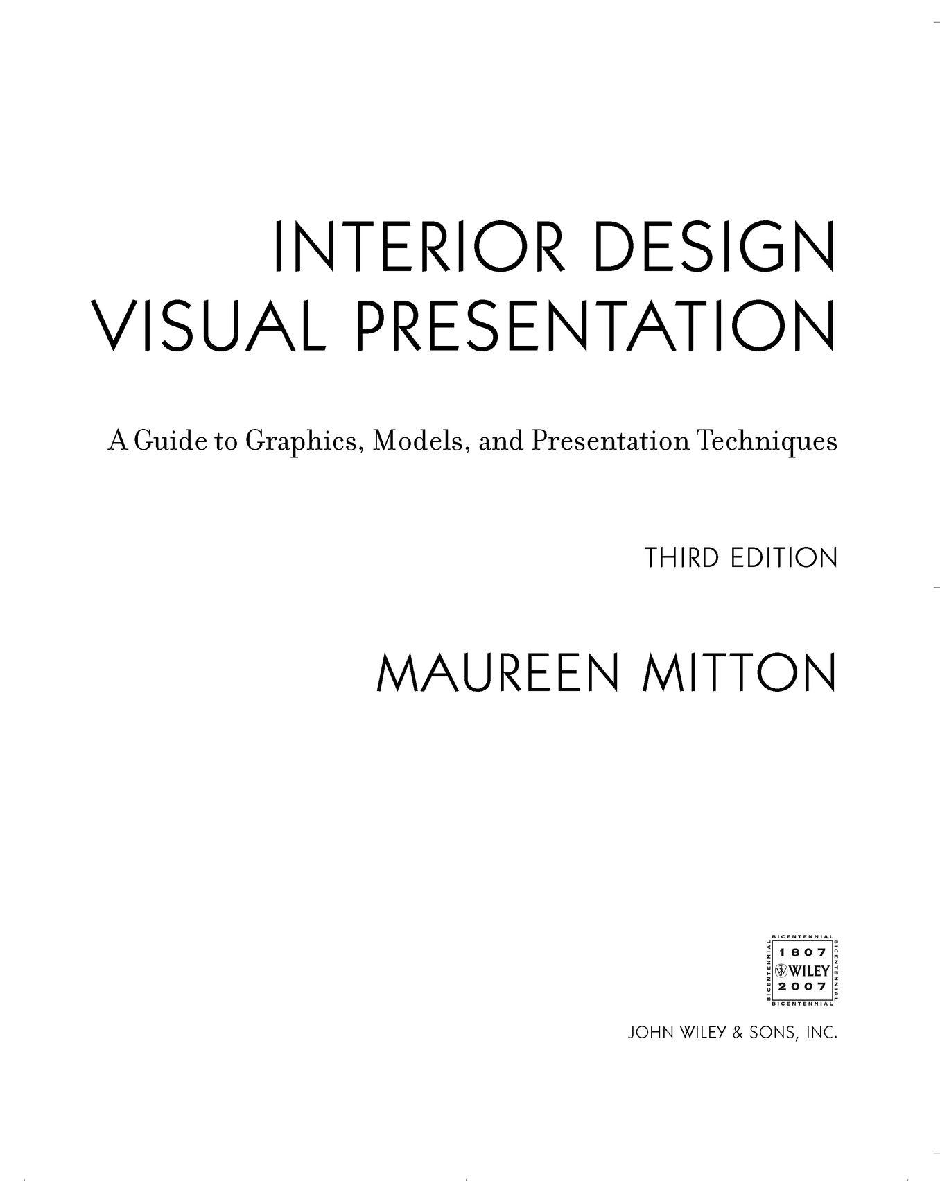 for Interior design visual presentation