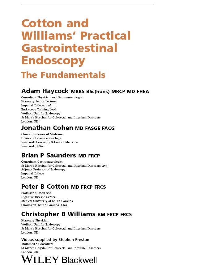 Peter Cotton Practical Gastrointestinal Endoscopy Pdf